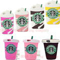 Hot 3D Ice Cream Starbuck Coffee Cup Case For iPhone 4 4S 5 5S SE 6 6S 7 Plus Galaxy S3 S4 S5 S6 S7 edge Note 3 4 5 A5 7 8 J5 J7