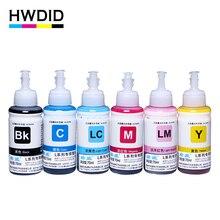 HWDID 6 Color 70ml Refill Dye Ink Kit for Epson L800 L801 L810 L111 L110 L100