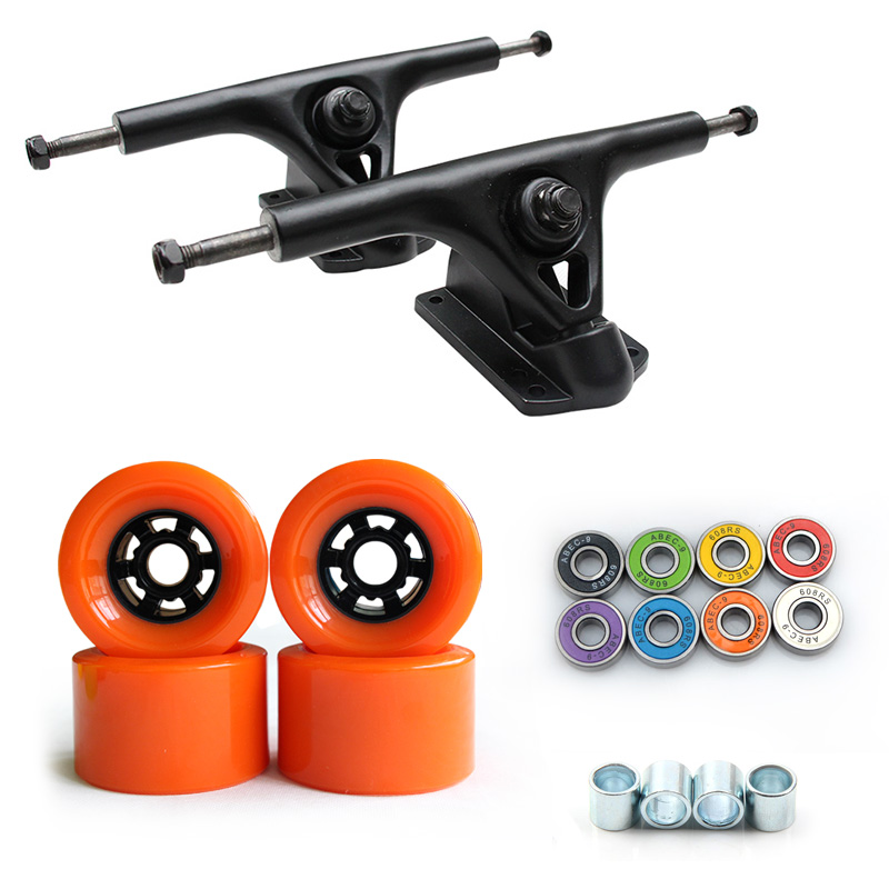 78A 90*52mm Longboard roues PU Skateboard 8 pouces pont Longboard camions ABEC-9 roulements bagues Skateboard route roues camion - 3