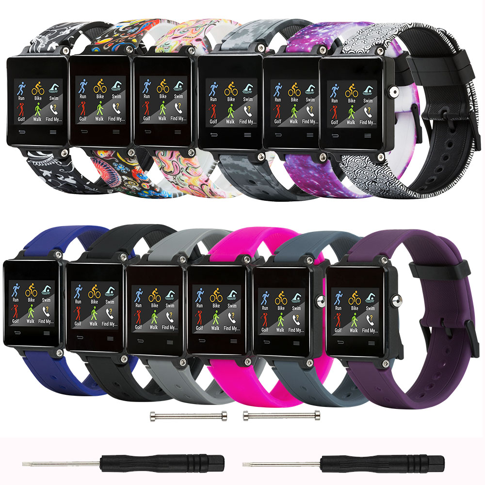 Baaletc For Garmin Vivoactive Acetate Band Soft Silicone Replacement Fitness Bands Wristbands With Clasps For Garmin Vivoactive