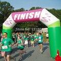 Пользовательские бесплатно логотип реклама 'надувные финиша арки для спортивных соревнованиях по бегу