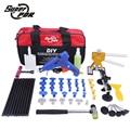 Super PDR Car Tools Kit Extractor Paintless Dent Reparación Herramienta Hot Pegamento Gun Caucho Puente Franja Dent Hammer