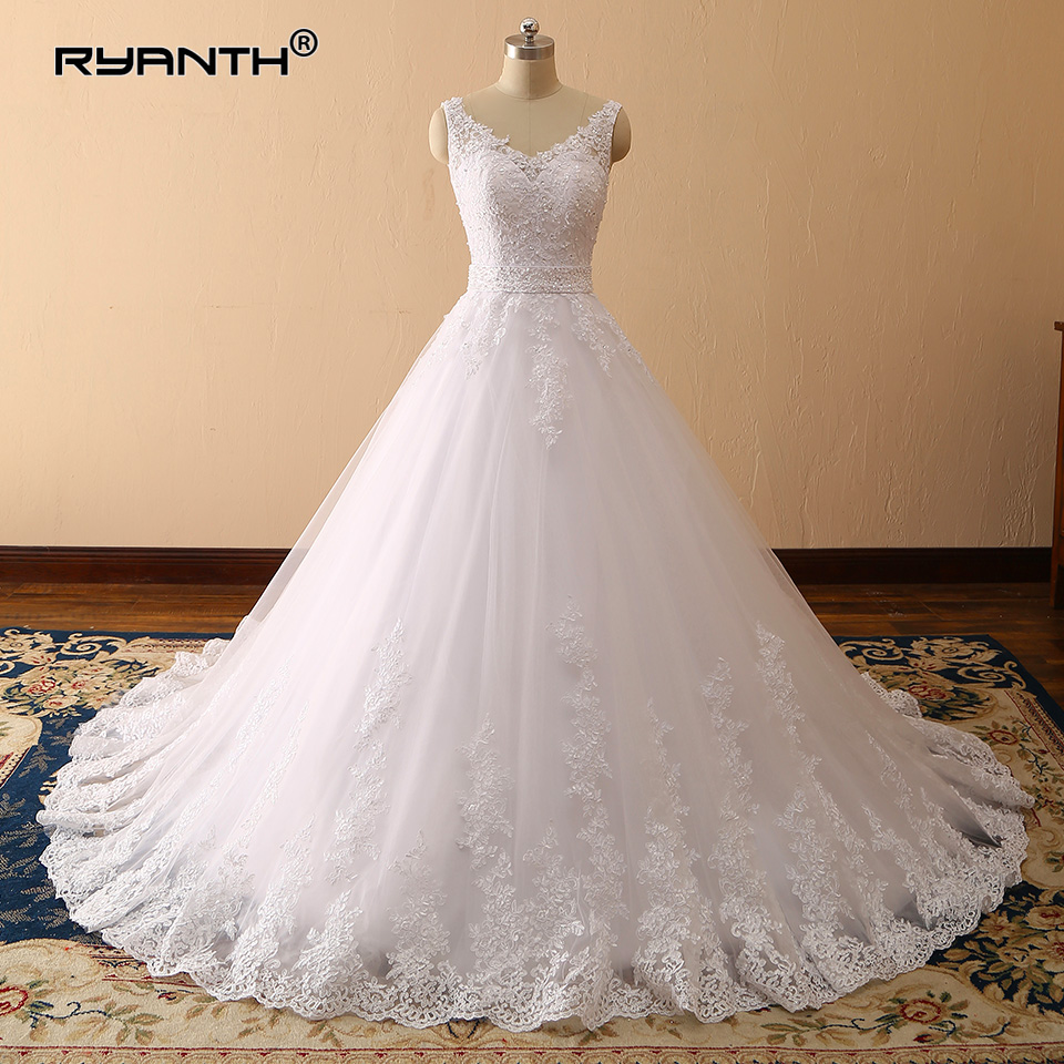 Ryanth Vestidos De Novia 2019 Sexy Ball Gown Wedding Dress