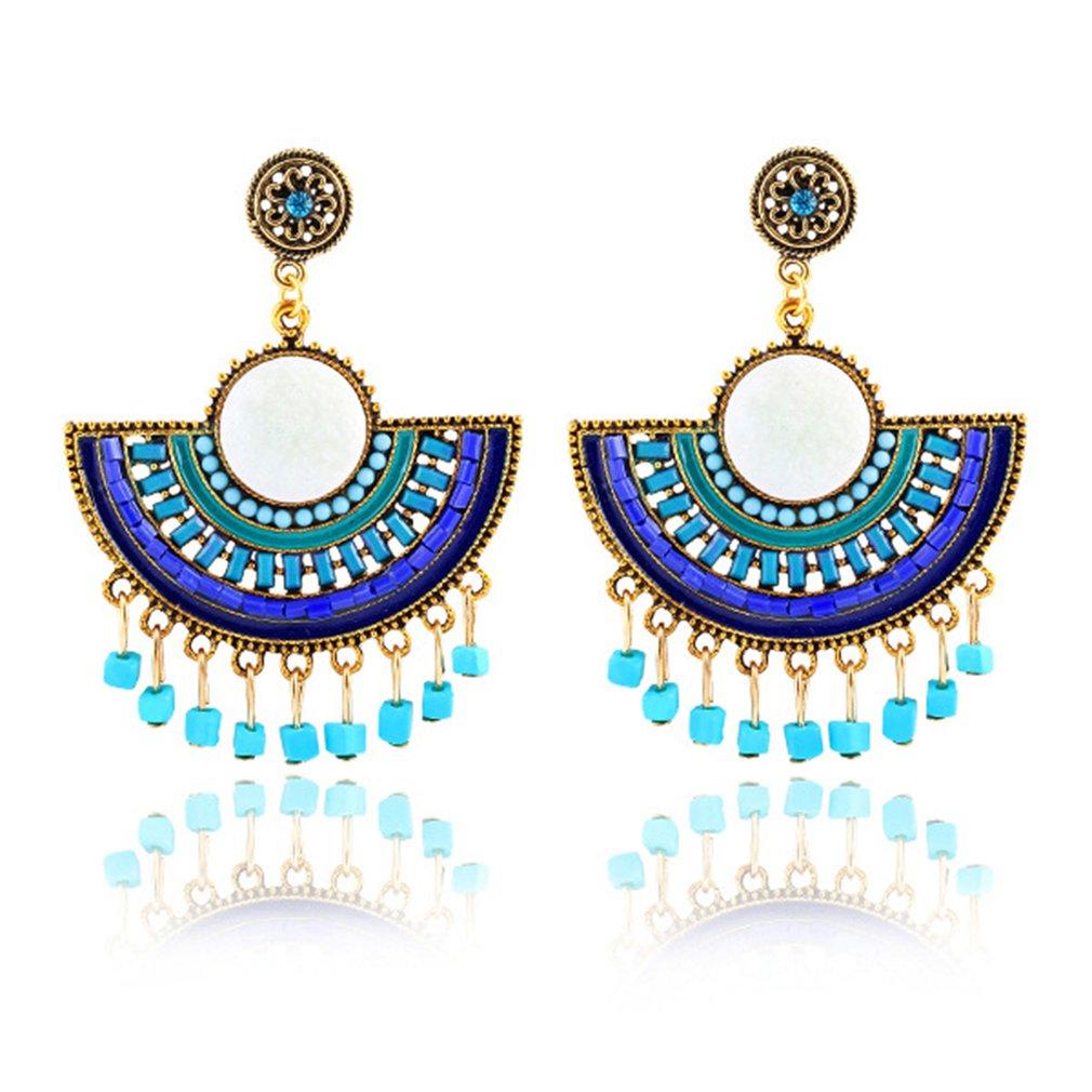 Bohemian Style Vintage Alloy Retro Ethnic Style Follow Pattern Ear Handmade Dang