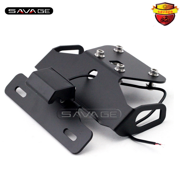 For KAWASAKI Z250 Z300 NINJA 250R/300R EX250 Motorcycle Tail Tidy Fender Eliminator Registration License Plate Holder LED Light motorcycle tail tidy fender eliminator registration license plate holder bracket led light for ducati panigale 899 free shipping