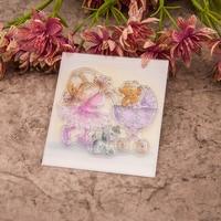 Scrapbook DIY album cards PDA transparent rubber stamp stamp chapter finished FIG girls(4pieces)