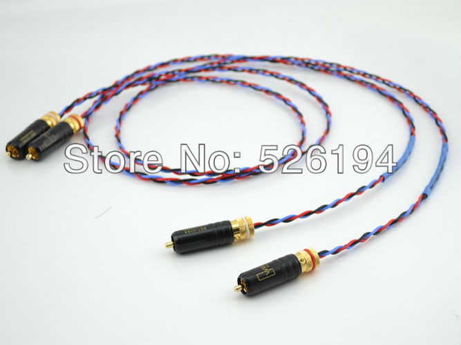 Free shipping  PBJ OCC copper audio Interconnects RCA Cable with WBT-0144 RCA Plug connector free shipping 3meter pair siltech empress double crown rca interconnect audio cable hifi rca audio cable with box