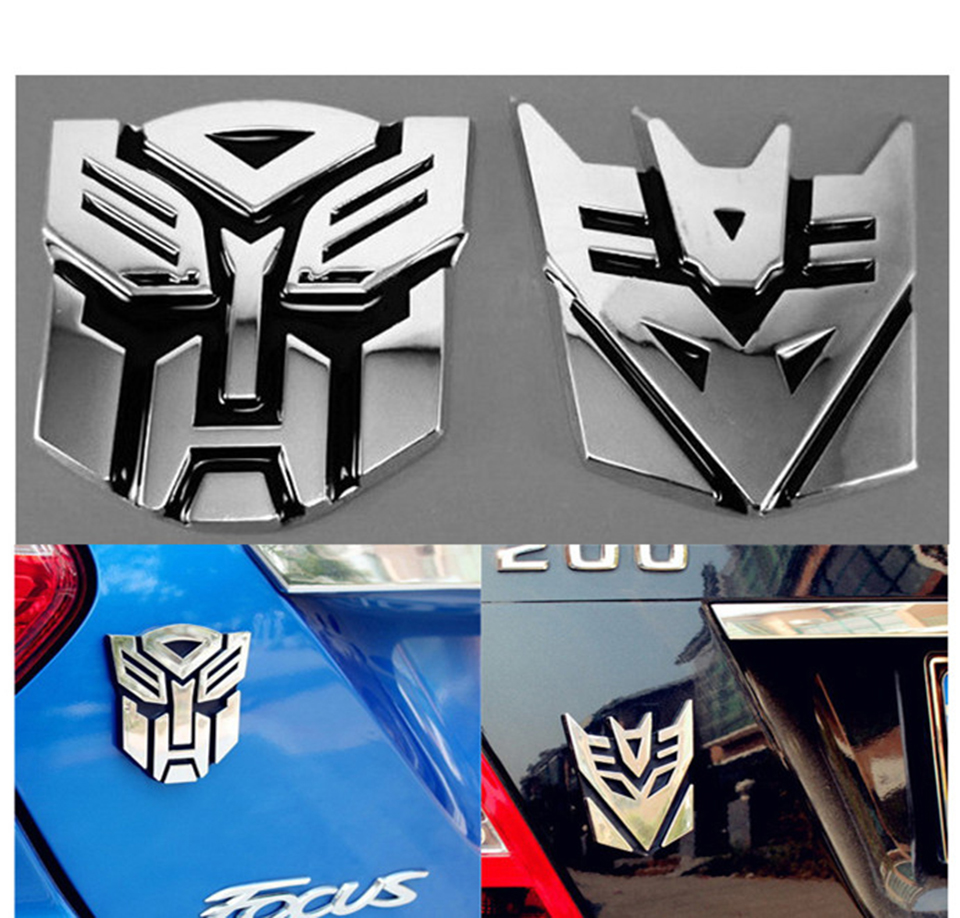 OC3D-7 3D Logo Protector Transformers Autobot Emblem Badge Car Sticker цена