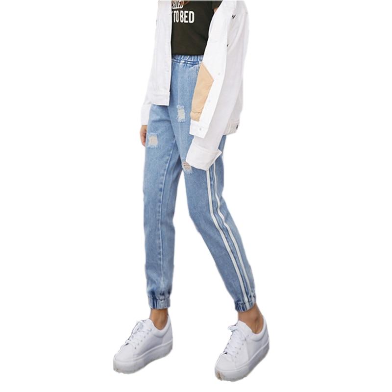2017 New Vintage Holes Jeans Women Casuas