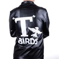 Women S 1950s Grease Jacket Vintage Black Faux Leather Moto Biker Short Coat Jacket Halloween Fancy