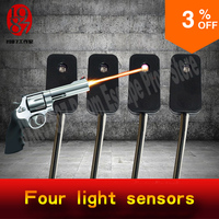 Takagism Game Prop Real Life Room Escape Props Jxkj1987 Shooting The Light Sensors In A Right