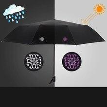 3b5b1aed00bbf Creative Colour Changing Anti UV Umbrella Rain Women Floding Automatic  Windproof Clear Art Umbrella Kids Rain