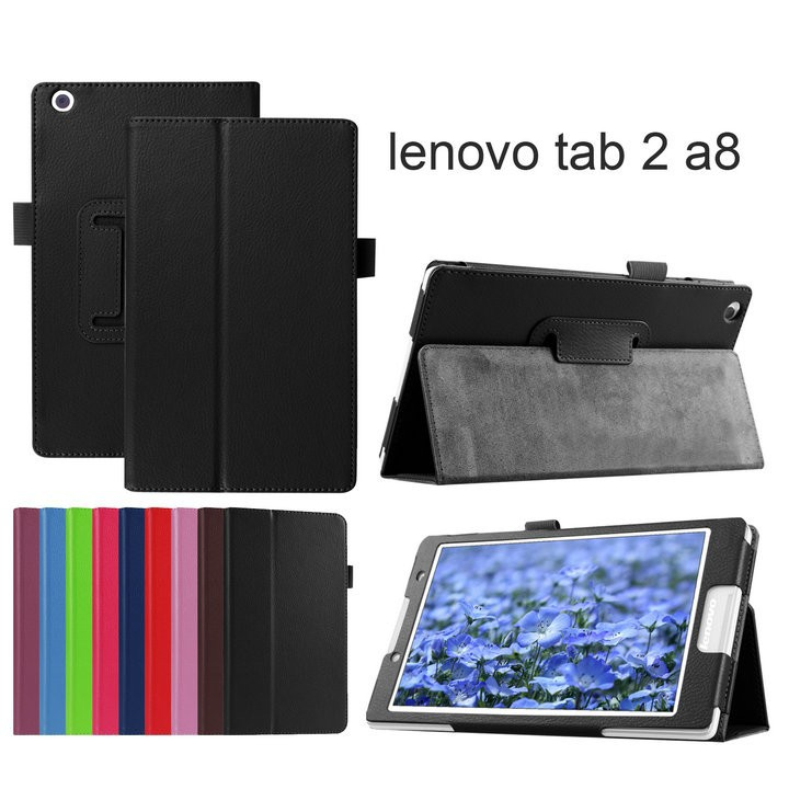 For lenovo tab2 A8 PU leather stand protective skin Tablets & e-Books Case for lenovo tab 2 A8-50 A8-50F A8-50LC+film+pen+otg lenovo tab 2 a8 50lc 16gb