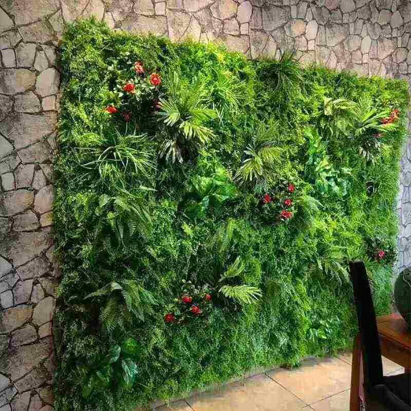 Planta artificial gramado diy parede de fundo simulação grama folha casamento decoração para casa verde por atacado tapete relvado decoração do escritório