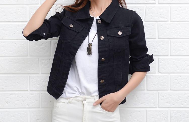 Jeans Jacket and Coats for Women 19 Autumn Candy Color Casual Short Denim Jacket Chaqueta Mujer Casaco Jaqueta Feminina 4