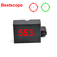 Holographic 553 Tactical Reflex Sight Red And Green Dot Reflex Sight Scope With 20mm Rail For