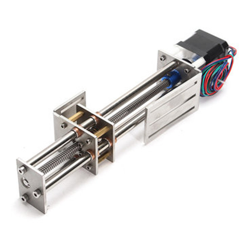 150mm Slide Stroke CNC Z A xis slide Linear Motion +NEMA17 Stepper Motor For Reprap Engraving Machine funssor 50mm 150mm slide stroke cnc z axis slide linear motion nema17 stepper motor for reprap engraving machine