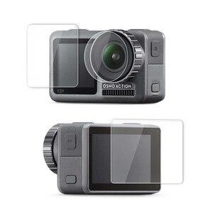 Image 1 - 1 ensemble de Film Pet clair trempé double écran pour DJI OSMO + protecteur dobjectif pour DJI OSMO accessoires de caméra daction ultra mince L0525 DJ