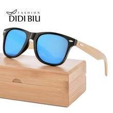 63166f7191 De Madera gafas de sol polarizadas hombres remache de bambú gafas de sol de  las mujeres de la marca de conducción gafas de mader.