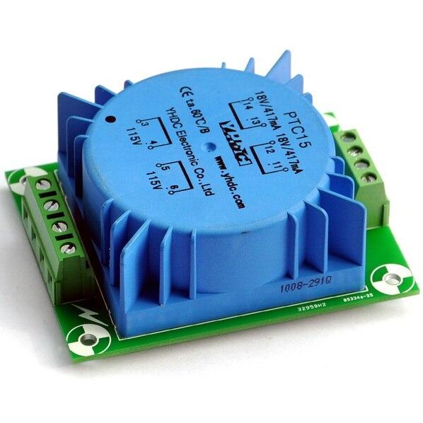 15VA Encapsulated Toroidal Transformer 115/230V, 18Vx2