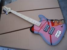 Wholesale New Custom 4 String Electric Bass Guitar Top Quality In Red(Orange) Burst 09a1121