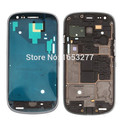 10 pieces/lot For Samsung i8190 Galaxy S3 Mini Middle Plate Spare Housing Parts front frame - Blue/silver