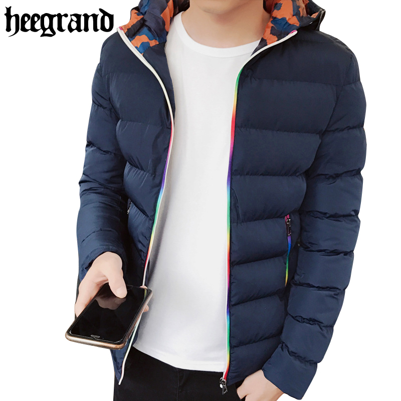 HEE GRAND Fashion Male Winter Overcoat Brand Clothing Male Hooded Jacket And Coat Man Large Size Jackets Men Coats MWM1624