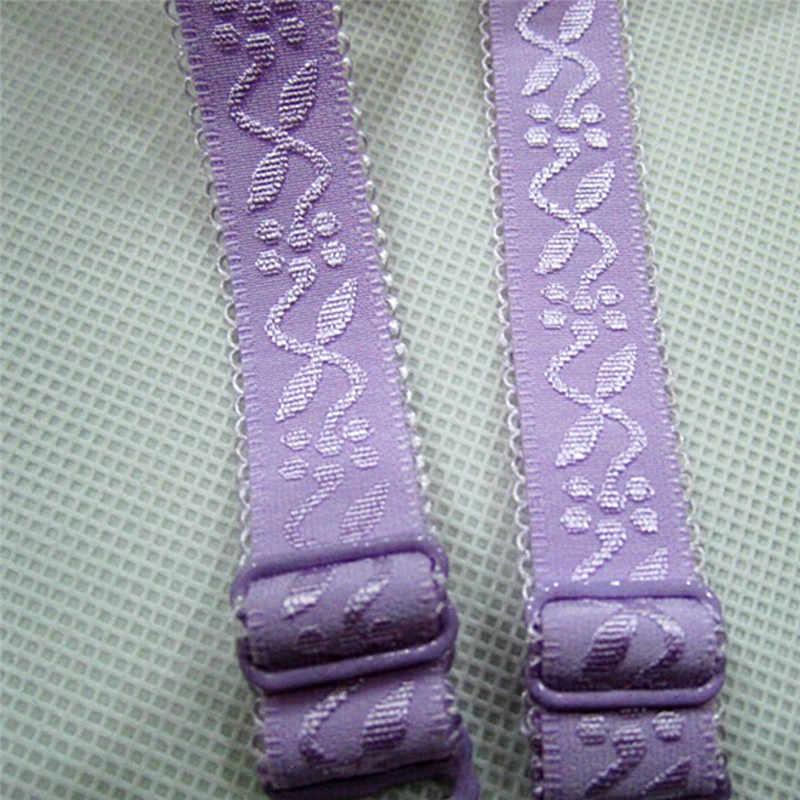 JCAAAP 1 para 34cm antypoślizgowa ramiączka biustonosza kobiet dwukrotnie na ramię elastyczne ramiączko biustonosza