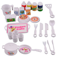 Kitchen Cooking Set Girls Boys Tea Playset Toy for Kids Early Age Development Plastic Food Toy Cutting Fruit Vegetable Food Play(China)