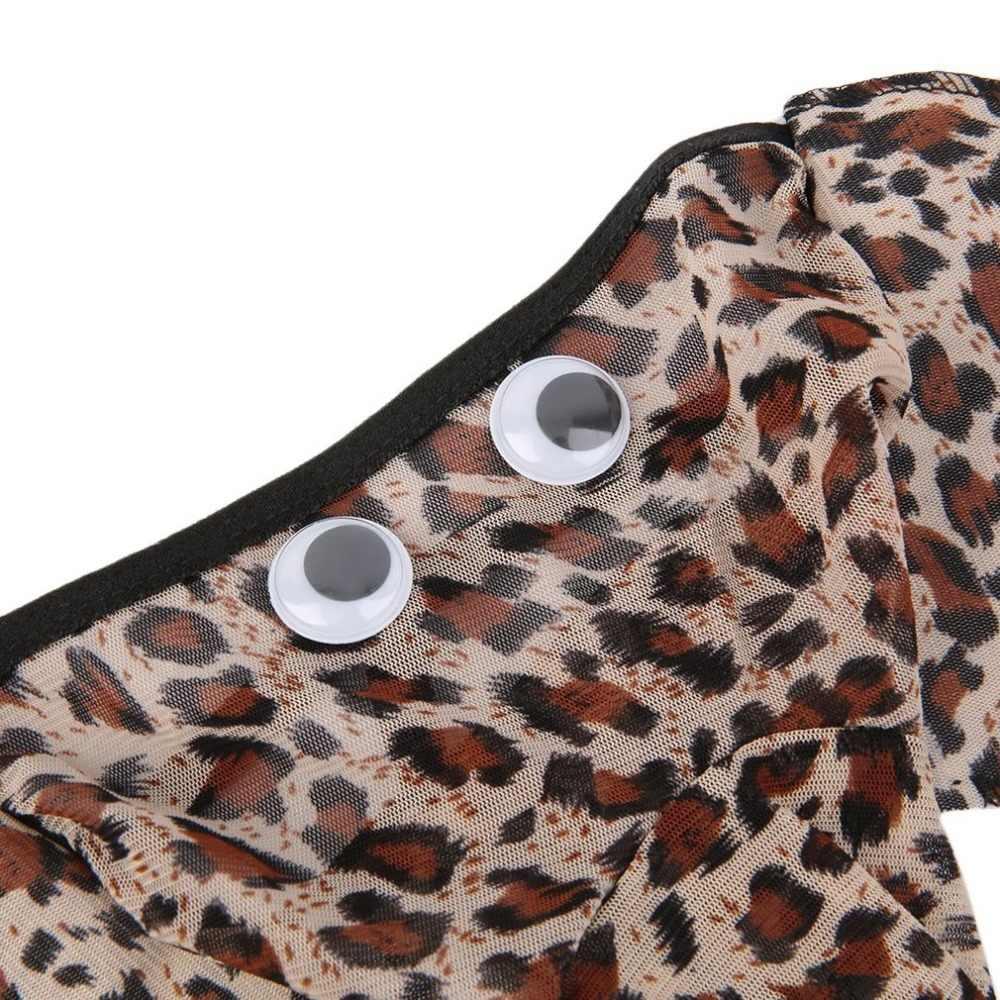 Malha Mens G-corda Thong Elephant Thong Underwear Lingerie Sexy Calcinha do Biquíni Gay Homens Cuecas Pênis Bolsa de Leopardo Preto Vermelho