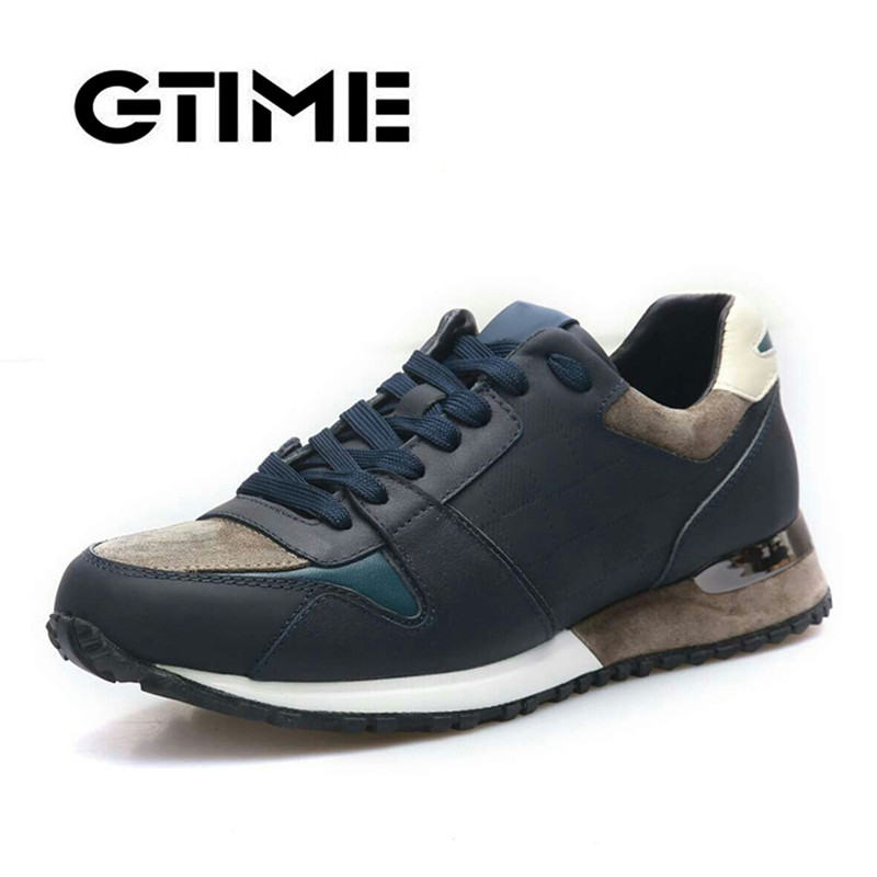GTIME New Trend Mens Genuine Leather Low Help Lace-up Casual Shoes Non-slip Comfortable Wedge Shoes For Sports #Y99GTIME New Trend Mens Genuine Leather Low Help Lace-up Casual Shoes Non-slip Comfortable Wedge Shoes For Sports #Y99