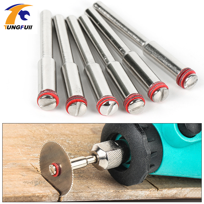 10x 2.35 mm Vis Mandrin Tige Cut-Off Wheel Support pour outil rotatif