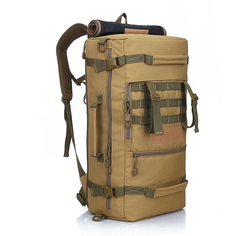 2019 50l novo sacos de montanhismo saco militar tatico mochila de acampamento caminhadas mochila mochila de