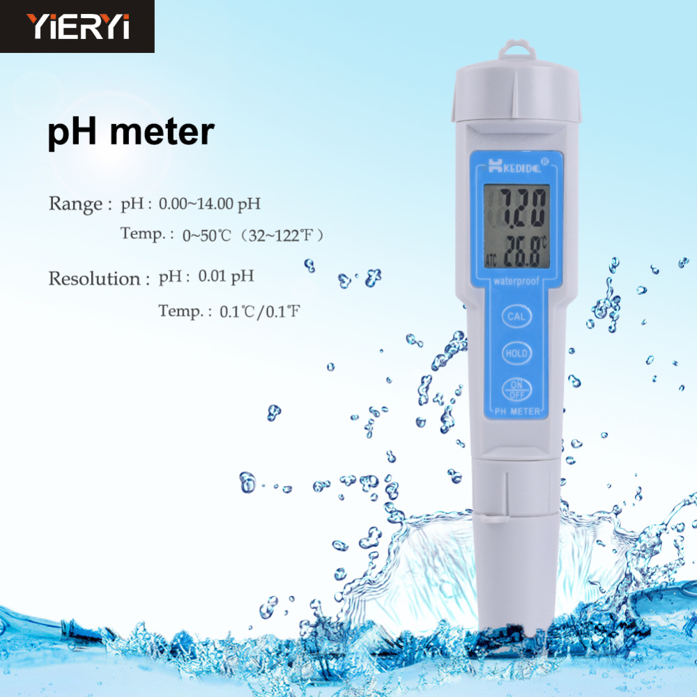High-precision Pen Type Digital Portable PH Meter CT-6023 Pen Ph Value Tester Water PH Meter PH Test Pen lcd digital waterproof pen type salt meter tester 0 5 0