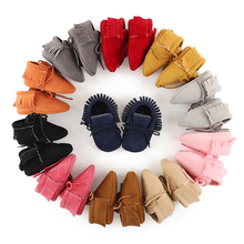 Delebao Spring/Autumn First Walkers Lace-up Pu Leather Baby Moccasins Shoes Infant Suede Thicken Sponge Baby Boots