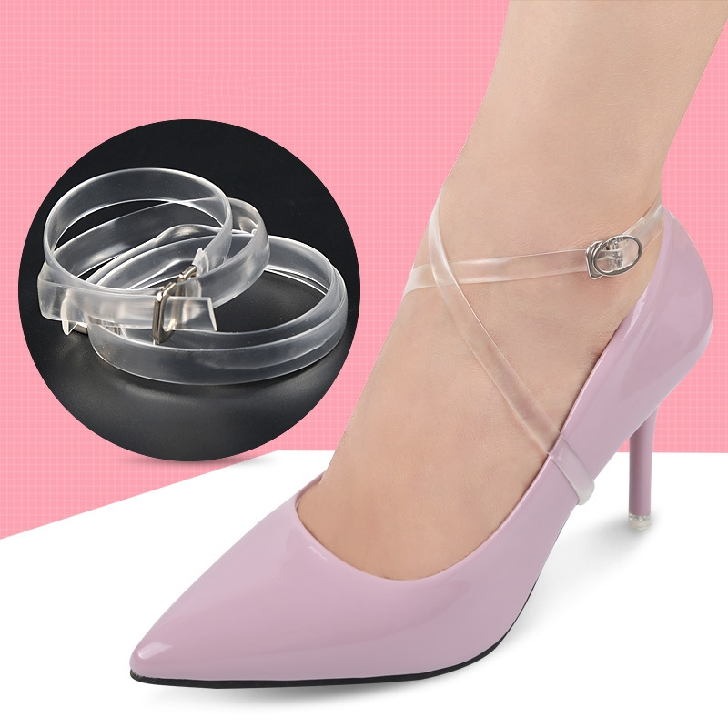 1 Pair 60CM Women High Heeled Flat shoe Safety Clips Invisible Transparent Shoelace Belt цена