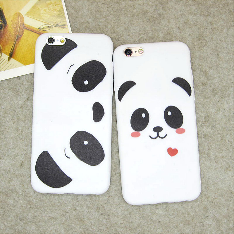 Hot Sale Cute Cartoon Panda Bear Soft TPU Back Covers for