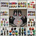 8pcs/lot Minions/Pet Shop/Fruits/Hotel Transylvania PVC Shoe Charms,Shoes Accessories Fit Bands Bracelets Croc JIBZ,Kids Gift