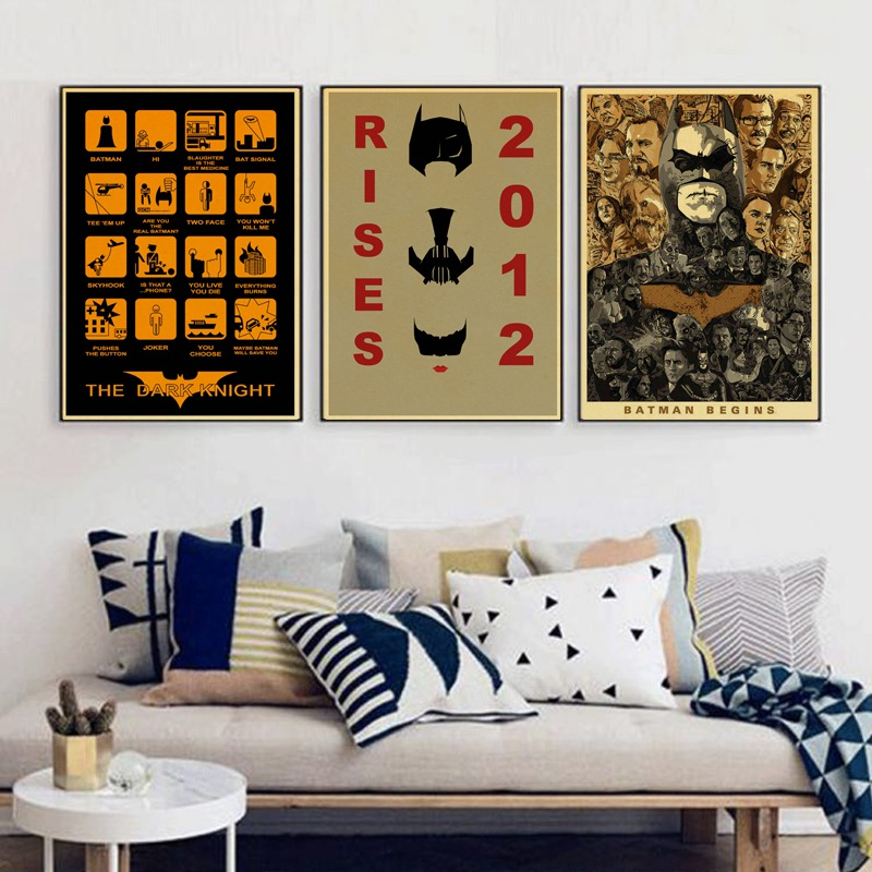 Evolution Of Batman Vintage Movie Poster Wall Paper Home