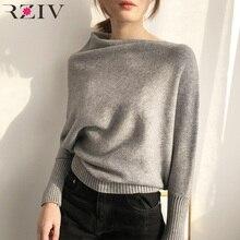 luźna sweter jednolity sweter