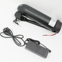 CONHISMOTOR 36 V 11AH Ebike Tubo Obliquo OEM Cell Li-Ion Battery Pack con BMS, 2A Caricatore per la Bicicletta Elettrica/Scooter/Bicicletta