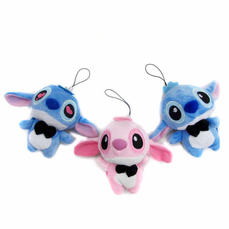 Kawaii Ponto De Pelúcia Boneca Brinquedos Anime Boneca Bonito Stich Lilo E Stitch de Pelúcia Chaveiro De Pelúcia Brinquedos Para Crianças Presente de Aniversário