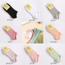 New Arrivals Candy Colors Socks Womens Summer Autumn Cotton and Bamboo Solid Low Cut No Show Boat