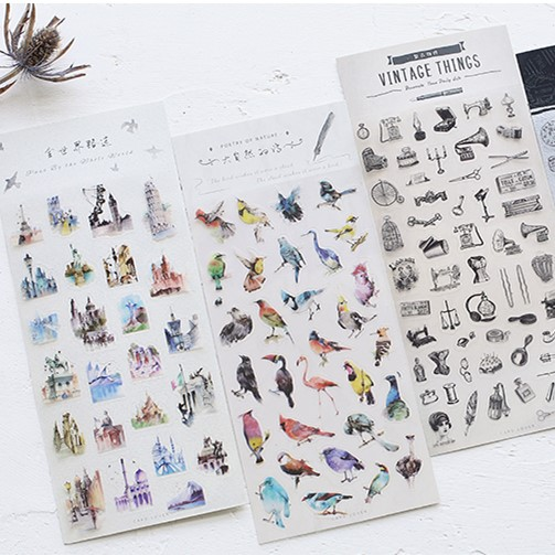 Cute Poetry Of Nature Decorative Adhesive PVC Sticker Diy Journal Scrapbooking Seal Stationery Sticker School Supplies