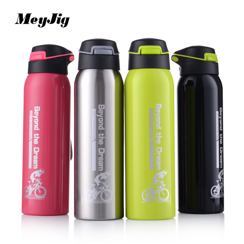 MeyJig 500ML Thermo Mug Stainless Steel Vacuum Flasks Sport Insulation Cup Coffee Tea Straw <font><b>Thermos</b></font> Car Cups Drinkware Termos