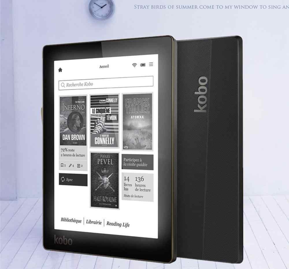 Lector de libros electrónicos Kobo Aura lector de libros electrónicos Resolución de 6 pulgadas 1024x758 N514 luz frontal incorporada e lector de libros WiFi 4GB libros