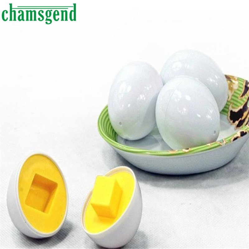 6pc Mixed Shape Wise Pretend Puzzle Smart Eggs Baby Kid Learning Toy O10.2