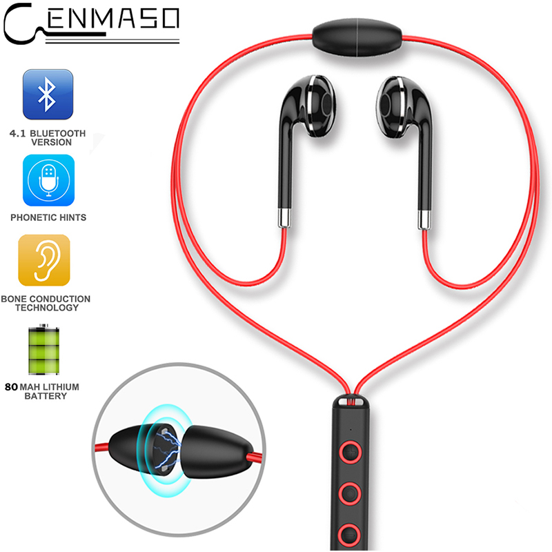 Magnetic Necklace Sport Bluetooth Earphone In Ear Wireless Earphones Running Ear Phones With Mic Bluetooth 4.1 In-ear Earbud