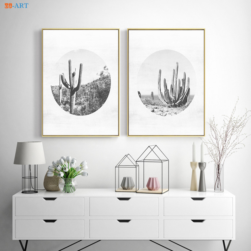 Modern Minimalist Canvas Painting Cactus Poster South ...