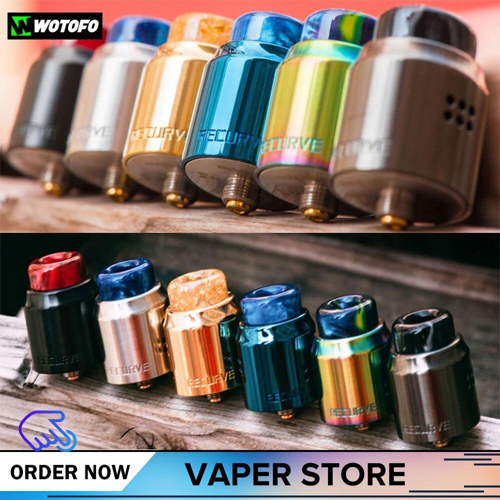 Original Wotofo Recurve double RDA Vape réservoir atomiseur reconstruction dégoulinant RDA atomiseur Fit la plupart E-Cigarette Mod 510 810 fil
